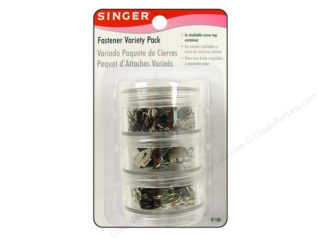 Singer Notions Fastener Variety Pack 78pc Assorted