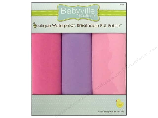 Dritz Babyville Boutique PUL Fabric 3 pc. Girl Solids