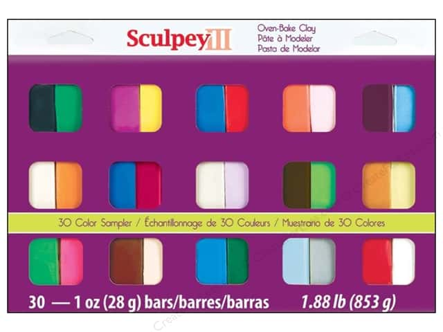Sculpey III Polymer Clay Color Sampler 30 pc.