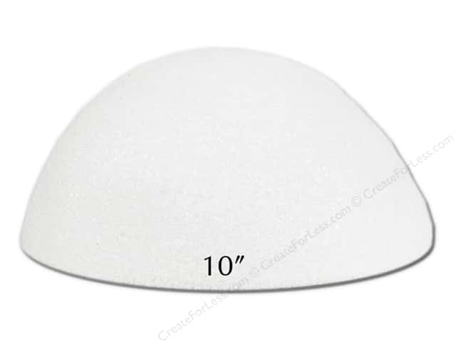 FloraCraft Styrofoam Half Ball 10 in. Hollow White (6 pieces)