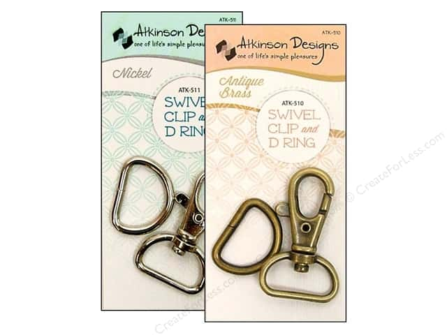 Atkinson Designs Swivel Clips And D Rings