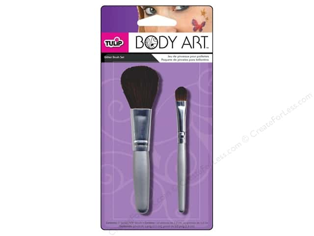 Tulip Body Art Brush Set Glitter 2pc