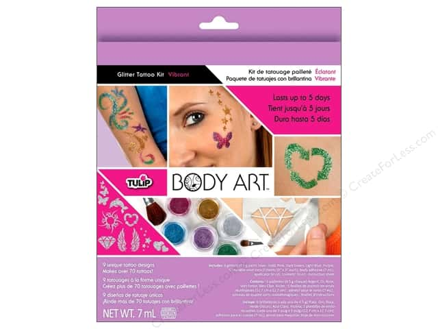 Tulip Body Art Glitter Tattoo Kit Vibrant