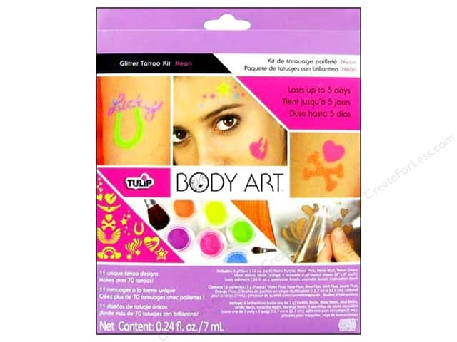 Tulip Body Art Glitter Tattoo Kit Neon