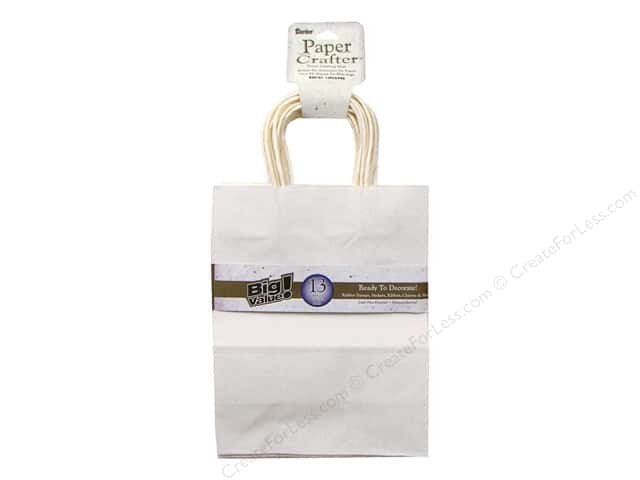 Darice Paper Crafter Bag 8 in. x 10.25 in. Value Pack White