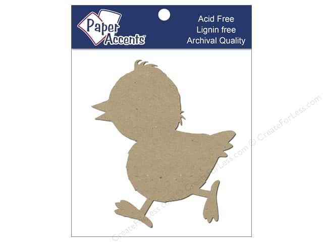 Paper Accents Chipboard Shape Chick 8 pc. Kraft