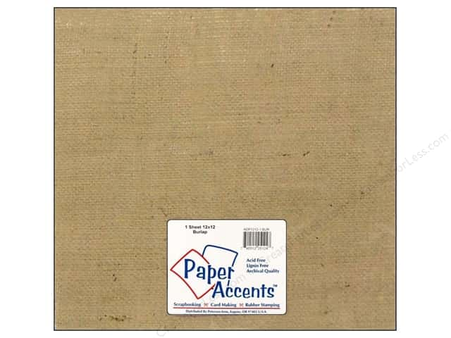 Paper Accents Fabric Sheet 12 x 12 in. Burlap Natural