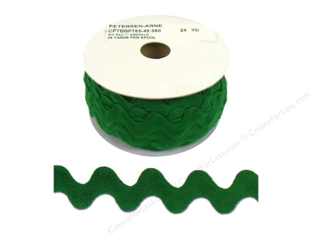 Ric Rac by Cheep Trims  1 in. Emerald (24 yards)