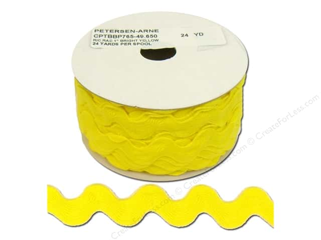 Ric Rac by Cheep Trims  1 in. Bright Yellow (24 yards)