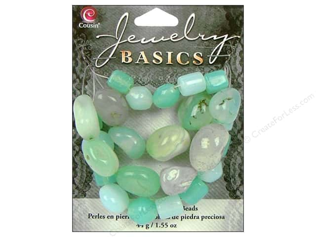 Cousin Basics Gemstone and Glass Beads 1.55 oz. Aqua