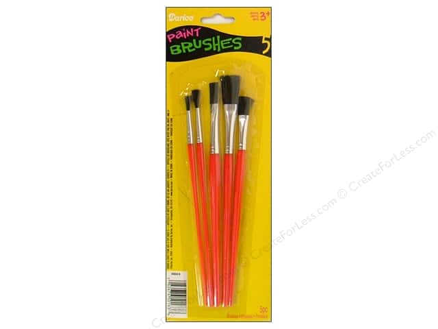 Darice Paint Brush Set 5 pc. Flat