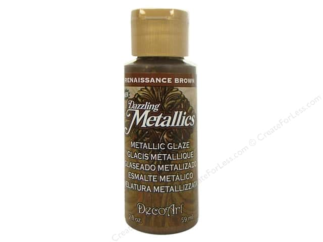 DecoArt Dazzling Metallics Glaze 2 oz. Renaissance Brown