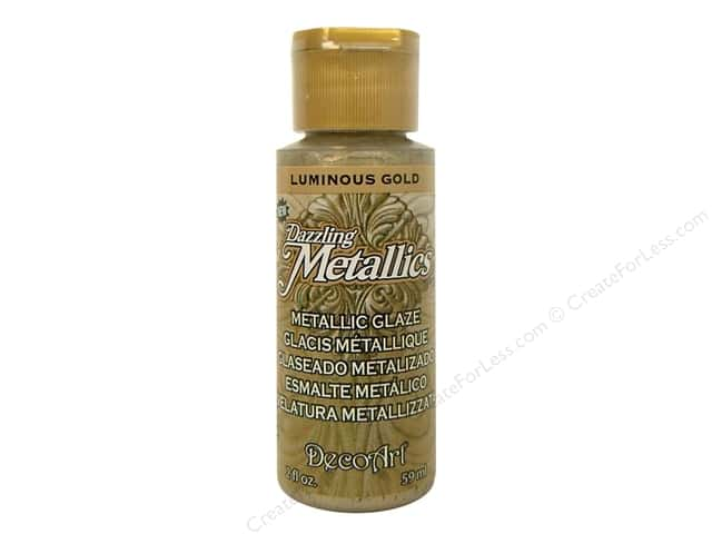 DecoArt Dazzling Metallics Acrylic Paint 2 oz. Luminous Gold