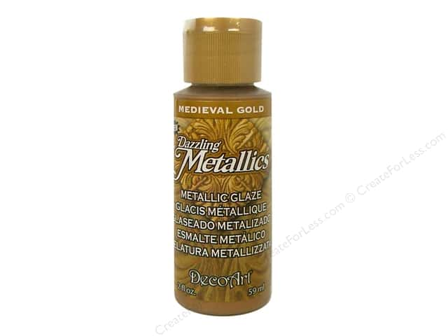 DecoArt Dazzling Metallics Paint 2oz Medieval Gold