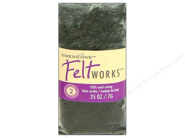 Dimensions Feltworks 100% Wool Roving Smoke/Charcoal