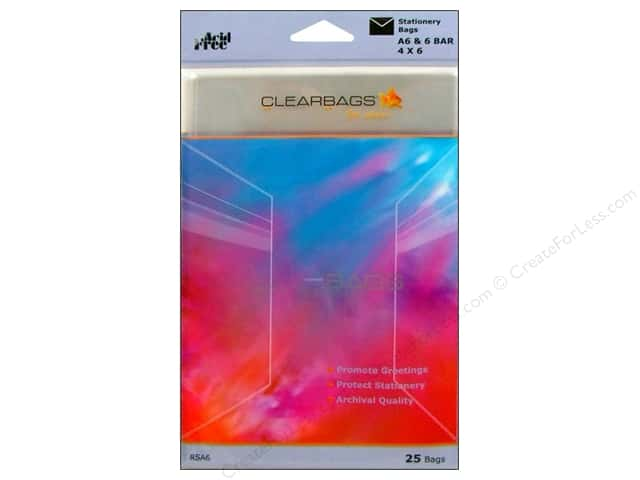 ClearBags Crystal Clear Bag 4 x 6 in. Stationery 25 pc.