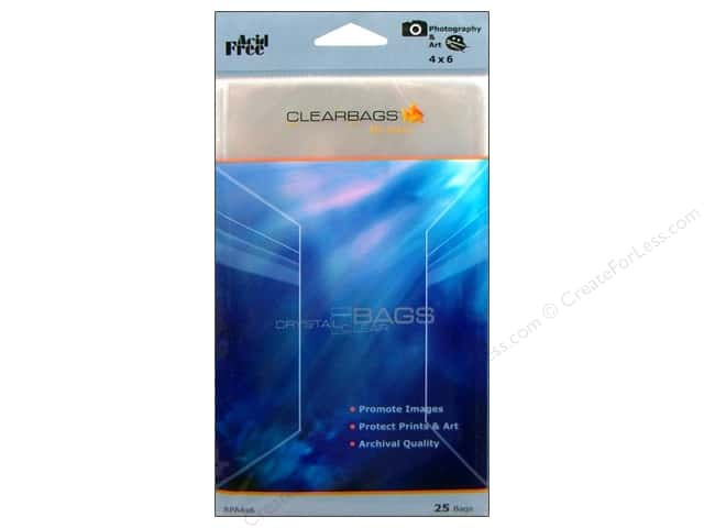 ClearBags Crystal Clear Bag 4 x 6 in. Photo 25 pc.