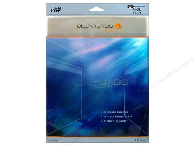 ClearBags Crystal Clear Bag 8 x 10 in. Photo 25 pc.