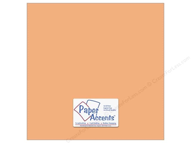 Paper Accents Cardstock 12 x 12 in. #18009 Smooth Peach Glow (25 sheets)