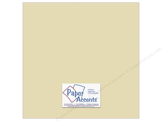 Cardstock 12 x 12 in. #18069 Smooth French Vanilla by Paper Accents (25 sheets)