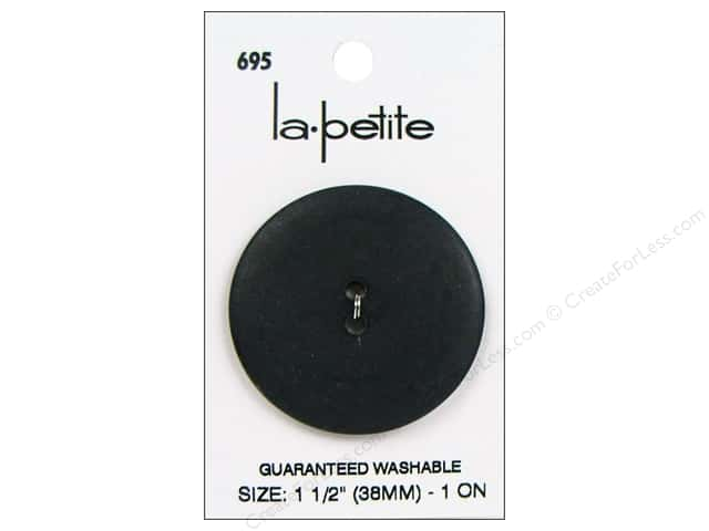 LaPetite 2 Hole Buttons 1 1/2 in. Black #695 1 pc.