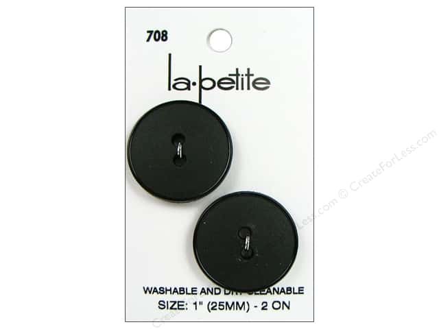 LaPetite 2 Hole Buttons 1 in. Black #708 2pc.