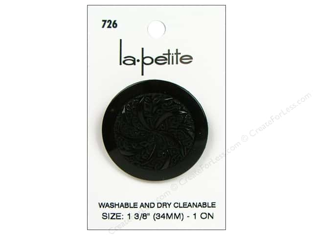 LaPetite Shank Buttons 1 3/8 in. Black #726 1pc.