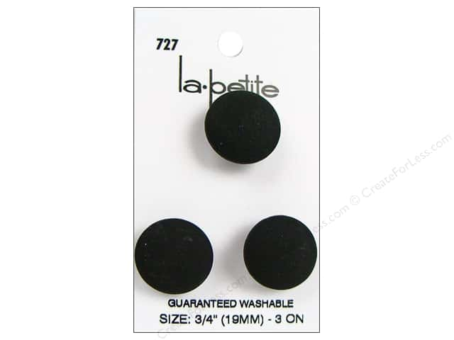 LaPetite Shank Buttons 3/4 in. Black #727 3pc.