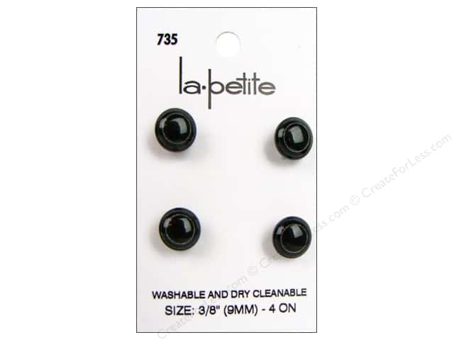 LaPetite Shank Buttons 3/8 in. Black #735 4pc.