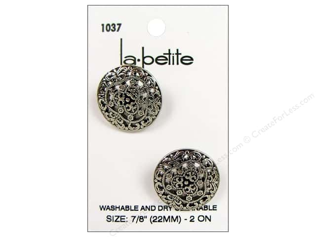 LaPetite Shank Buttons 7/8 in. Antique Silver #1037 2pc.