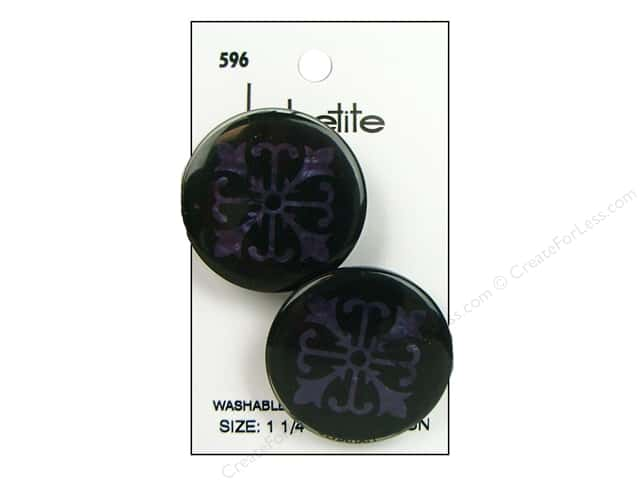 LaPetite Shank Buttons 1 1/4 in. Navy #596 2pc.