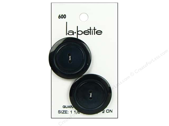 LaPetite 2 Hole Buttons 1 1/8 in. Navy #600 2pc.