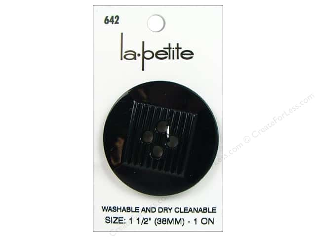 LaPetite 4 Hole Buttons 1 1/2 in. Navy #642 1pc.