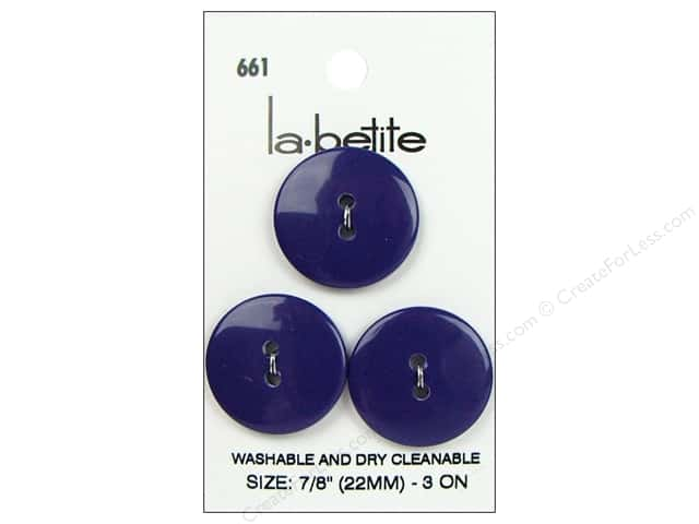 LaPetite 2 Hole Buttons 7/8 in. Deep Purple #6613pc.