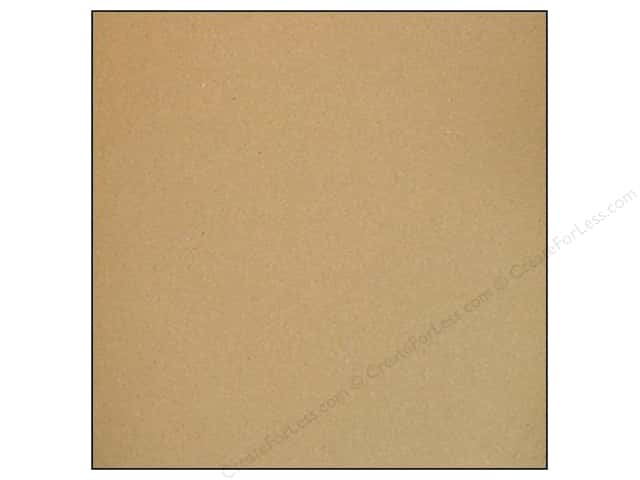 American Crafts 12 x 12 in. Cardstock Smooth Dark Kraft (25 sheets)