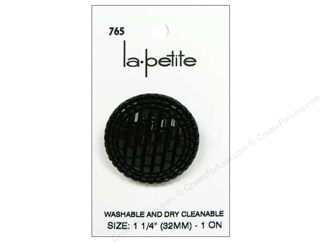 LaPetite Shank Buttons 1 1/4 in. Black #765 1pc.