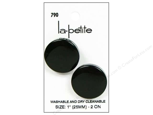 LaPetite Prong Buttons 1 in. Black #790 2pc.