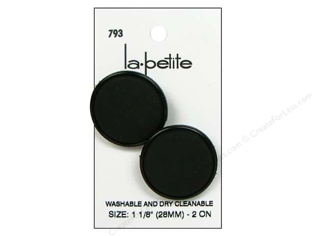 LaPetite Shank Buttons 1 1/8 in. Black #793 2pc.