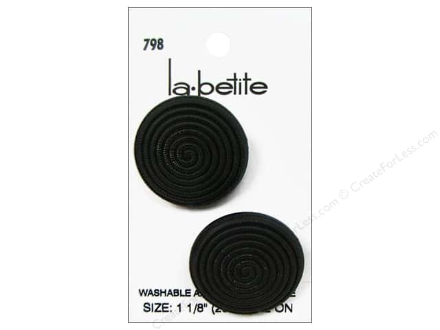 LaPetite Prong Buttons 1 1/8 in. Black #798 2pc.