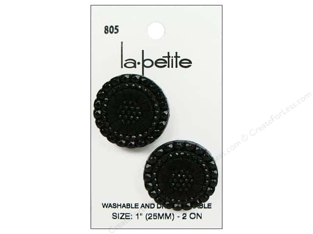 LaPetite Shank Buttons 1 in. Black #805 2pc.