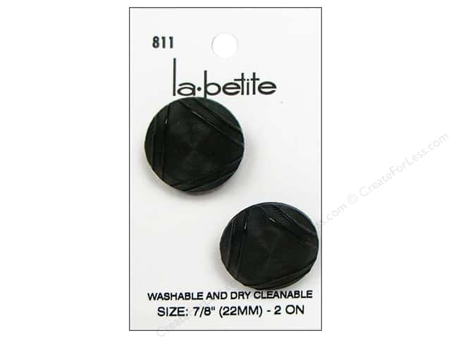 LaPetite Shank Buttons 7/8 in. Black #811 2pc.