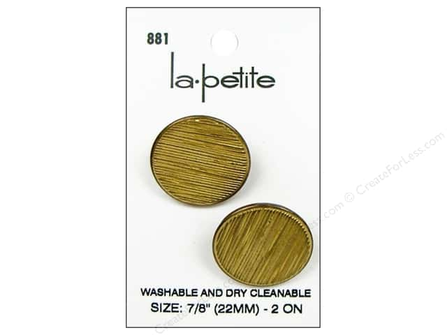 LaPetite Shank Buttons 7/8 in. Gold #881 2pc.