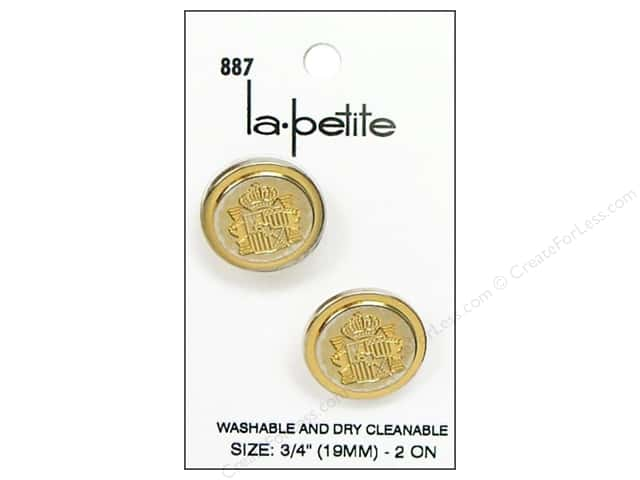 LaPetite Shank Buttons 3/4 in. Gold Blazer #887 2pc.