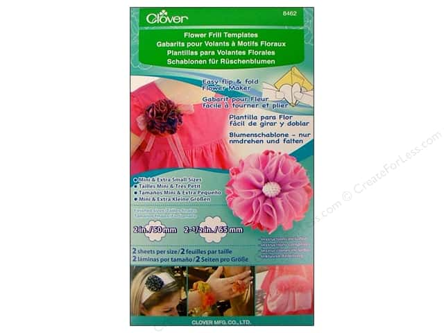 Clover Flower Frill Template Mini & Extra Small