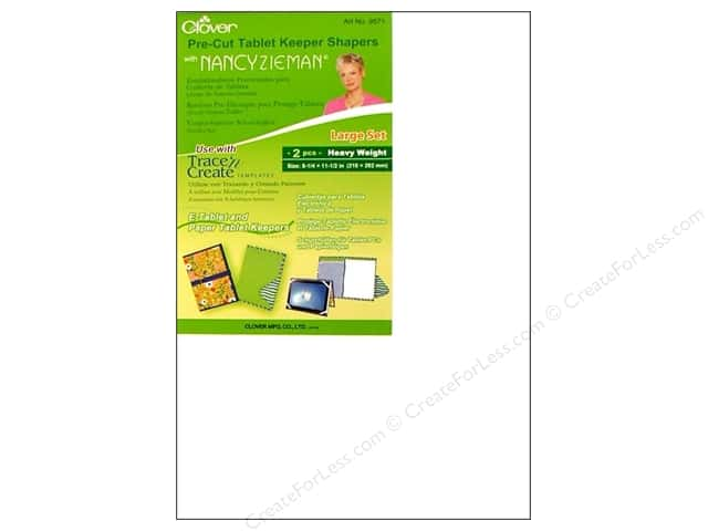 Clover Pre-Cut Tablet Keeper Shapers with Nancy Zieman - Large 2 pc.