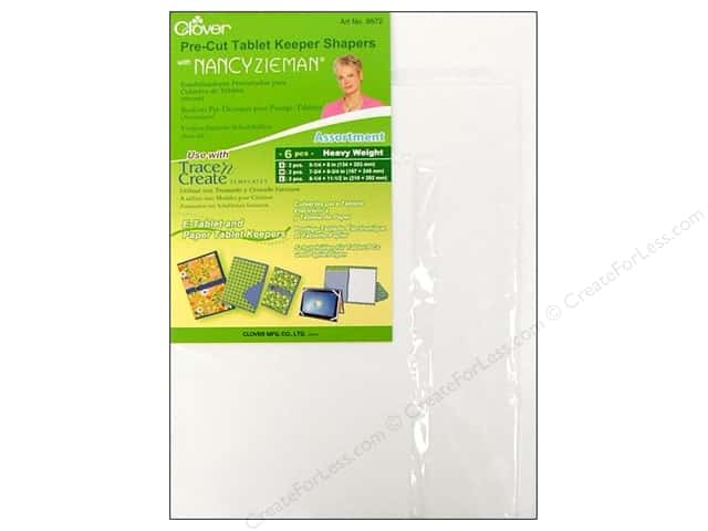 Clover Pre-Cut Tablet Keeper Shapers with Nancy Zieman - Assorted 6 pc.
