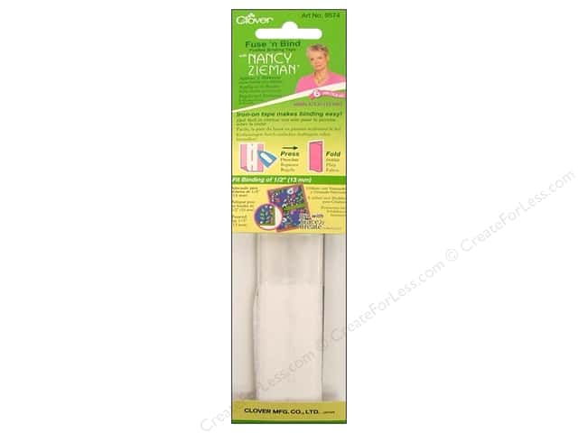 Clover Fuse N Bind Fusible Binding Tape with Nancy Zieman 1/2 in. x 6 yd.