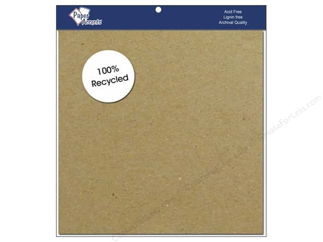 Cardstock 8 x 8 in. #357  Recycled Brown Bag  by Paper Accents 15 pc.