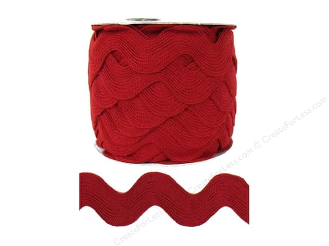 Jumbo Ric Rac by Cheep Trims  1 13/32 in. Barn Red (24 yards)