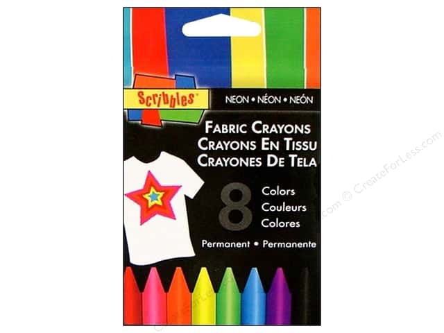 Scribbles Fabric Crayons Neon 8pc